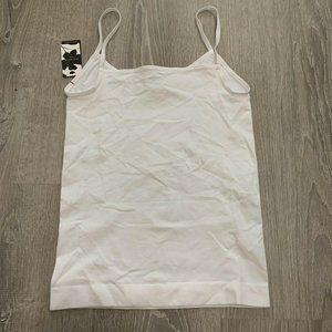 Halogen Tank S White Camisole Intimates New BF45